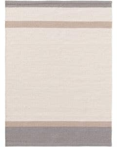 Wollteppich New Stripes Cream/Grau