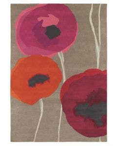 Wollteppich Poppies Rot