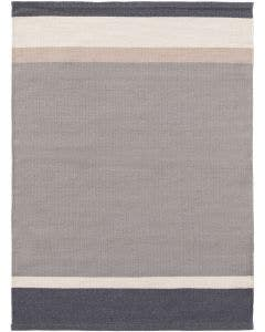 Wollteppich New Stripes Grau/Anthrazit