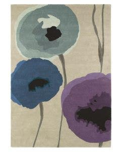 Wollteppich Poppies Lila